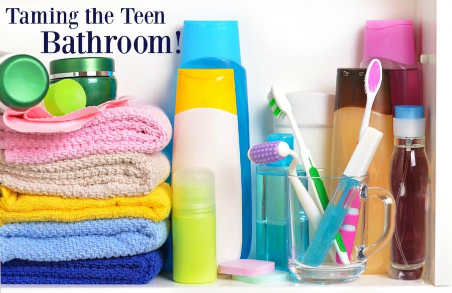 Organizing the teen bathroom