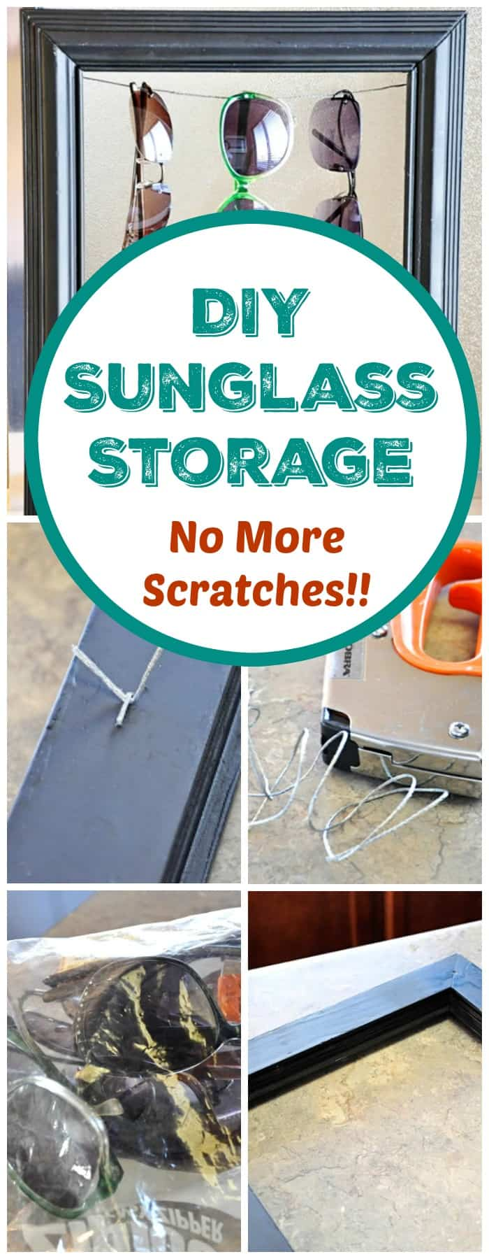 DIY Sunglasses Storage Solution