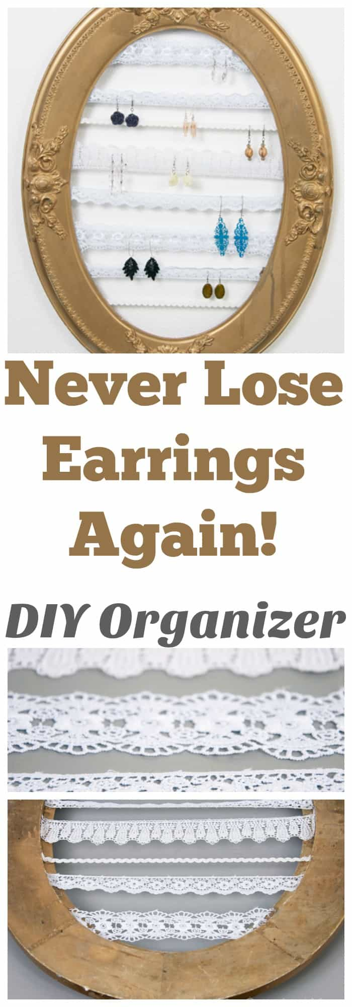 I love this earring organizer! It literally took $5 and 5 minutes!  DIY HOME ORGANIZATION - JEWELRY
