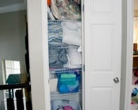 Linen Closet Makeover &#8211; Part 1