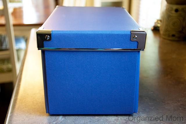 blue Ikea boxes