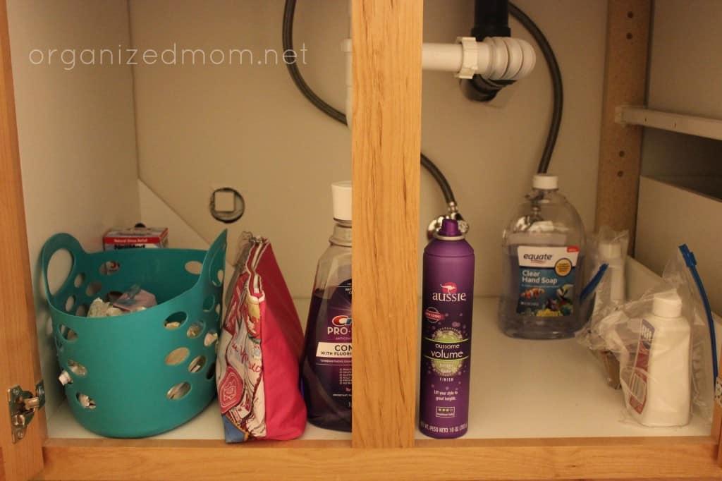 under bathroom sink