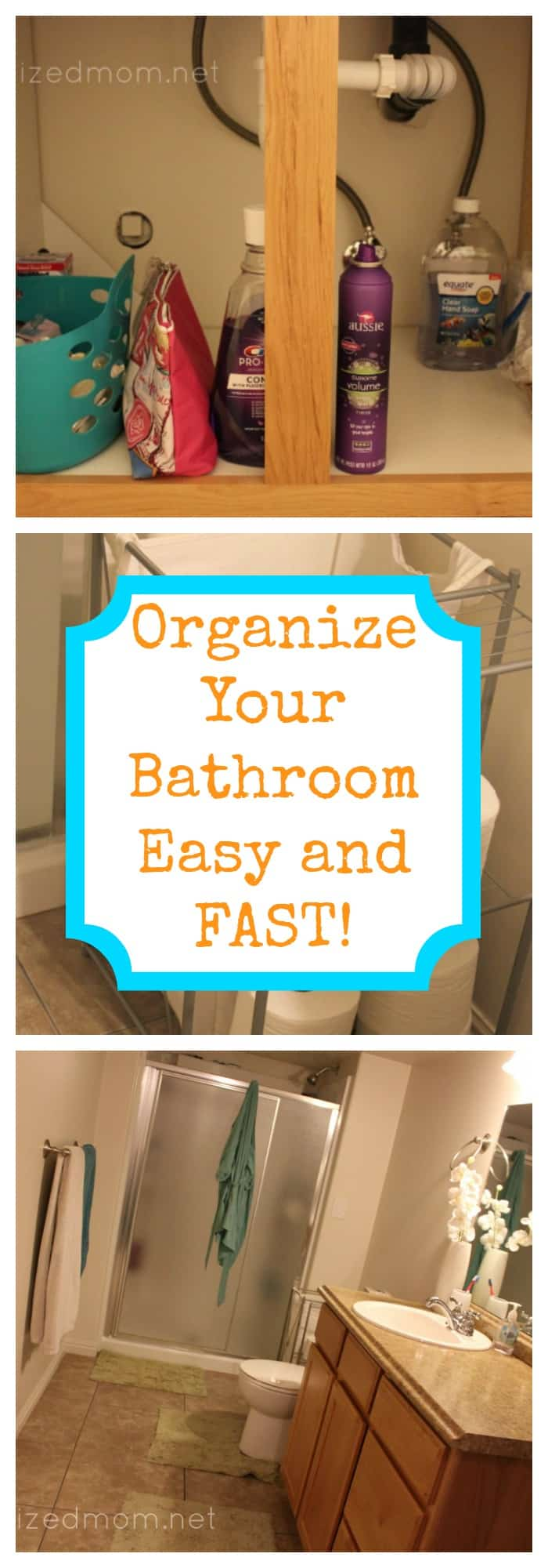 Home Organization--Organize Your Bathroom Easy and Fast--The Organized Mom