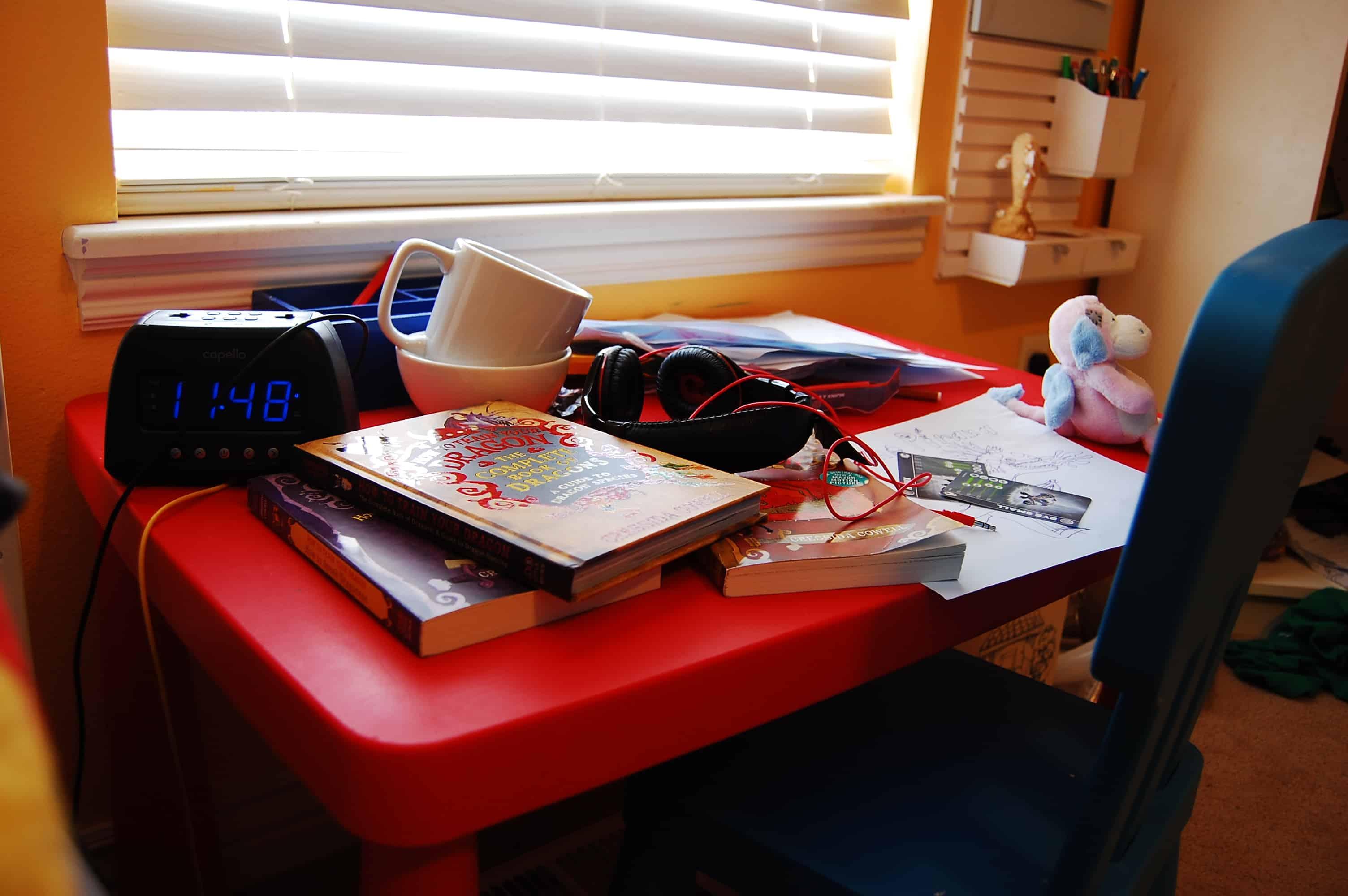 diy kids homework hideaway wall desk the organized mom