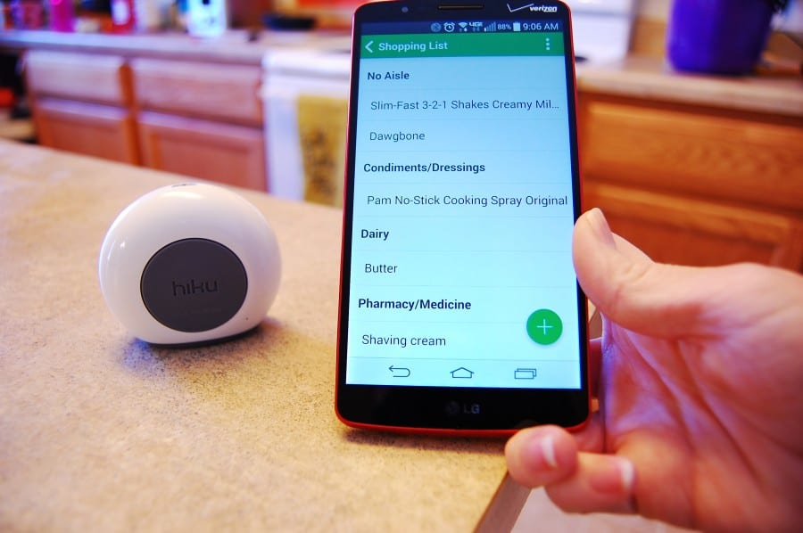 Hiku – The Device for Your Grocery List