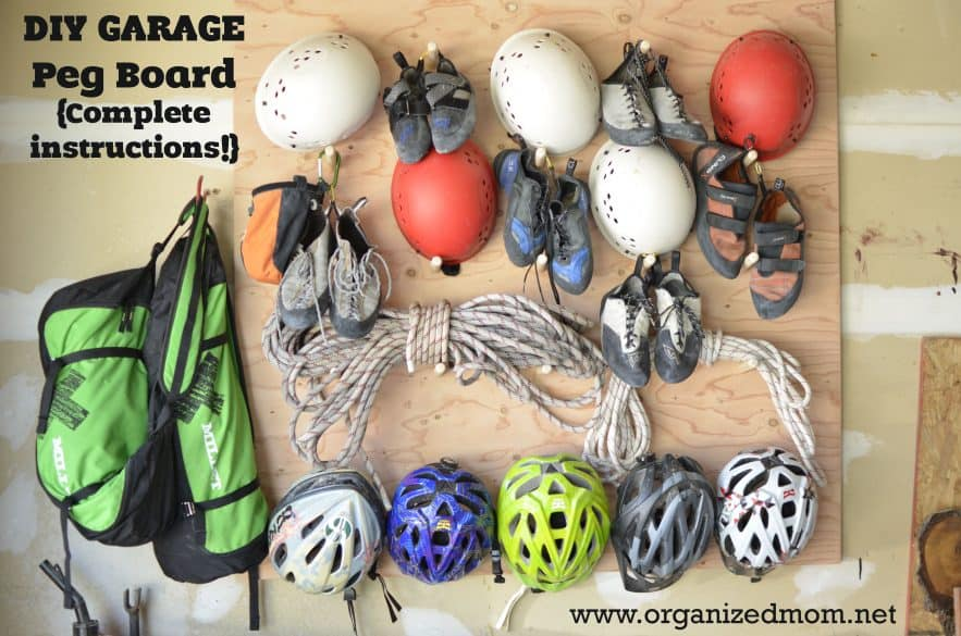 Organize Your Outdoor Gear {DIY Peg Board}