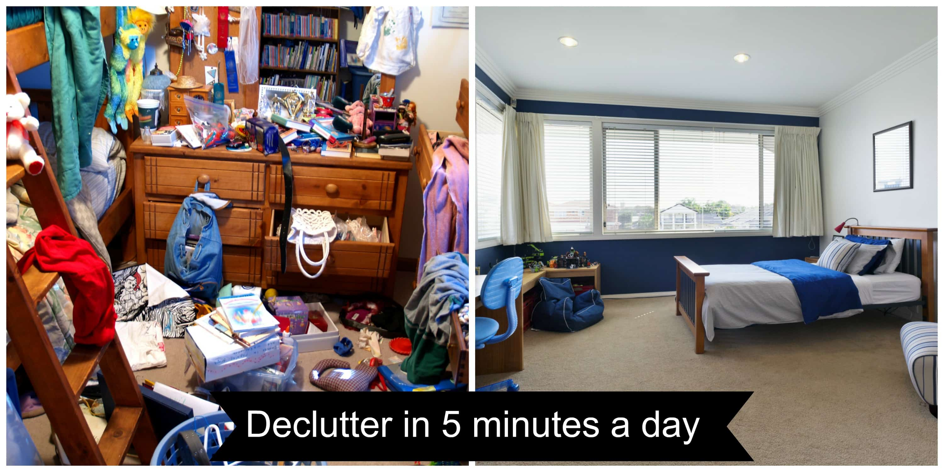 Declutter Your Home in 5 Minutes a Day - The Organized Mom