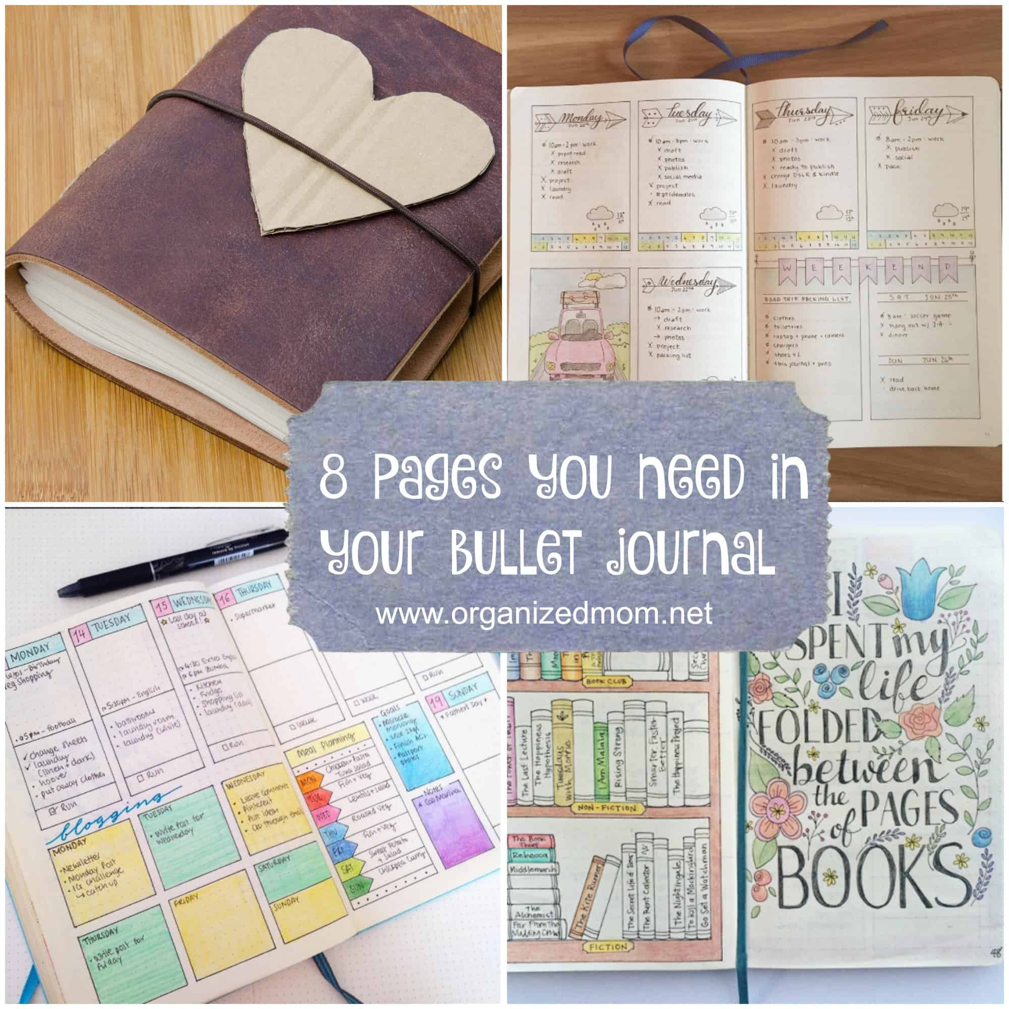 Easy To Create Bullet Journal Ideas And The Quot Must Have Quot Pages