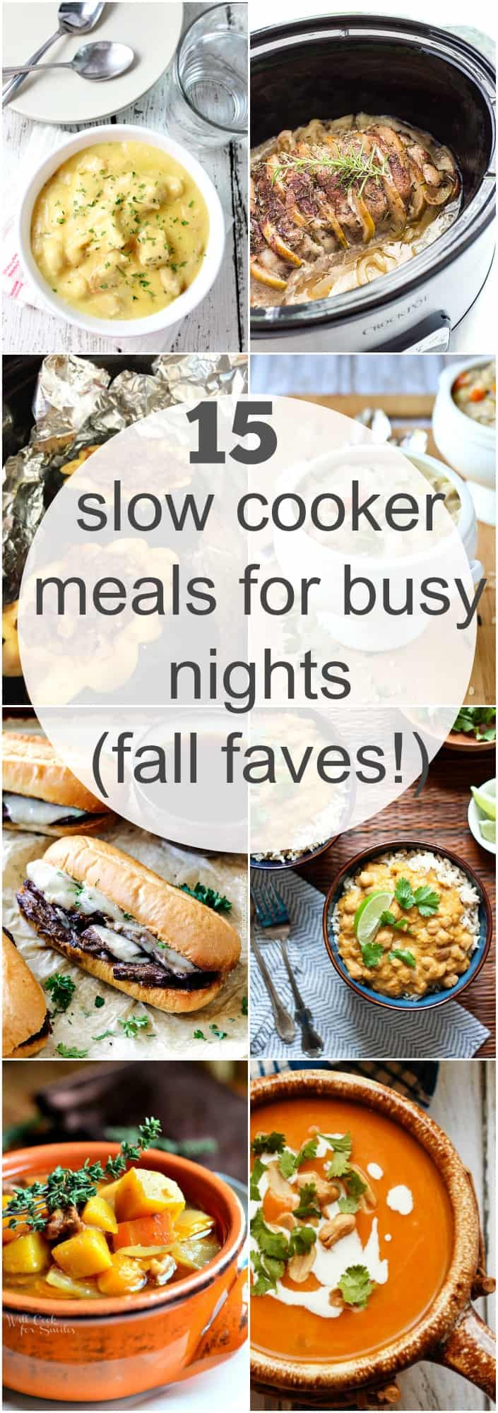 Food and Drink 15 slow cooker crockpot meals for busy nights- fall favorites