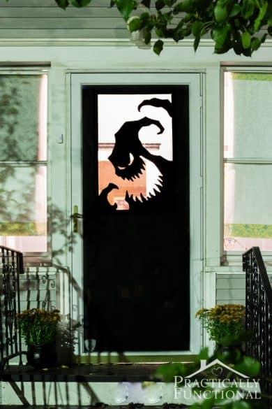 Halloween door decorations