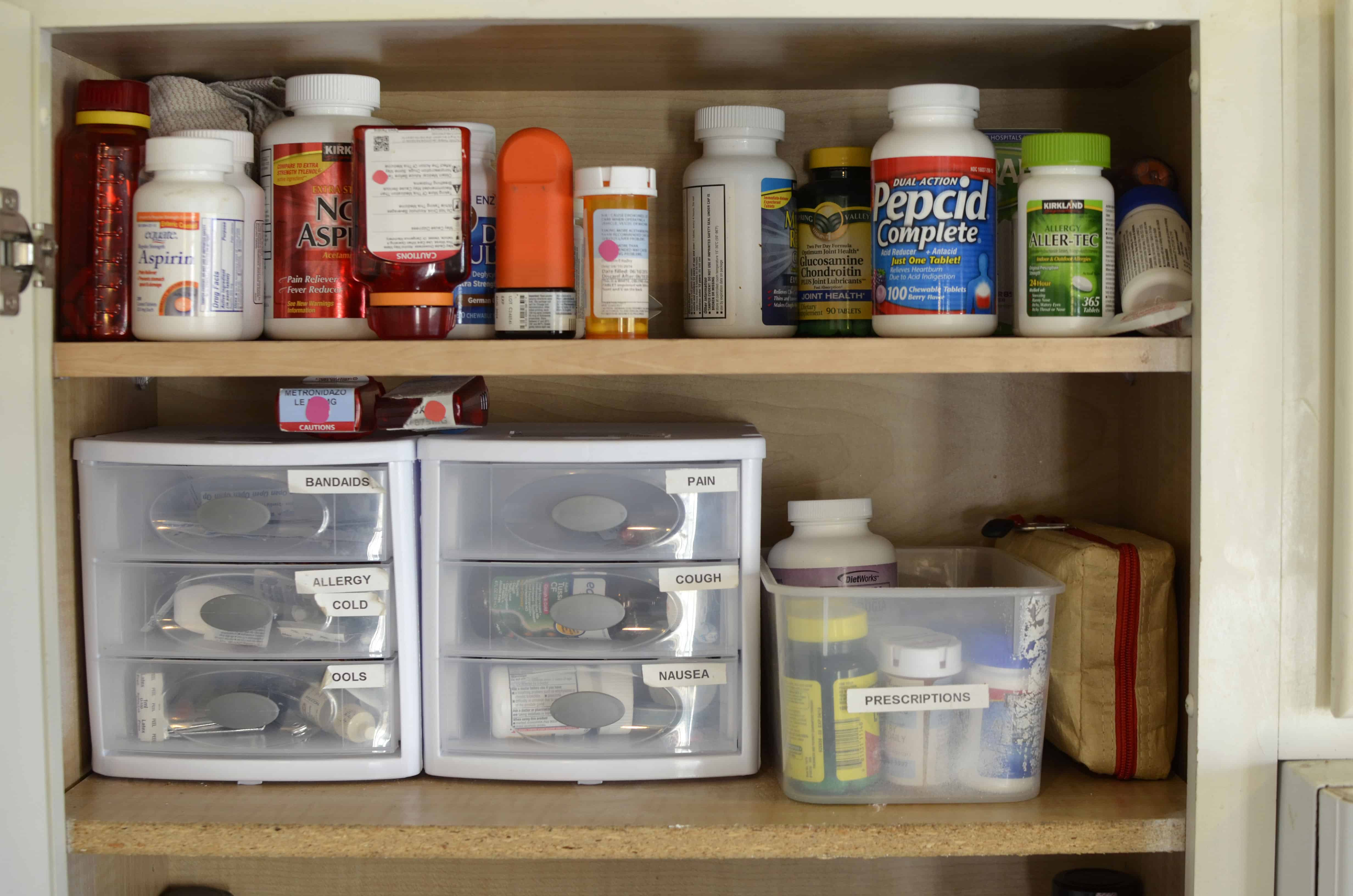 Keeping Your Medicine Cabinet Simple Safe And Organized