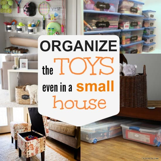 10 ways to store toys in small living spaces the organized mom - Organizational furniture for small spaces set ...