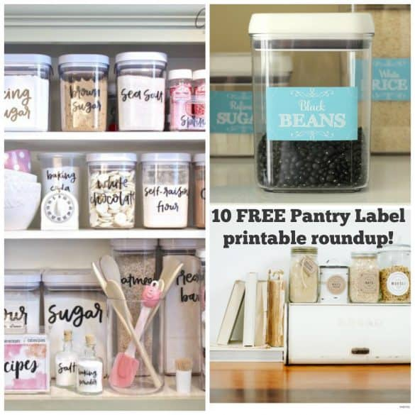 10 Free Printable Pantry Labels To Whip Your Kitchen Into Shape The Organized Mom