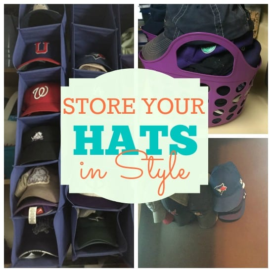 dd2ec15a818 Simple Solutions for Hat Storage - The Organized Mom