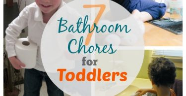 7 bathroom chores your toddler can do