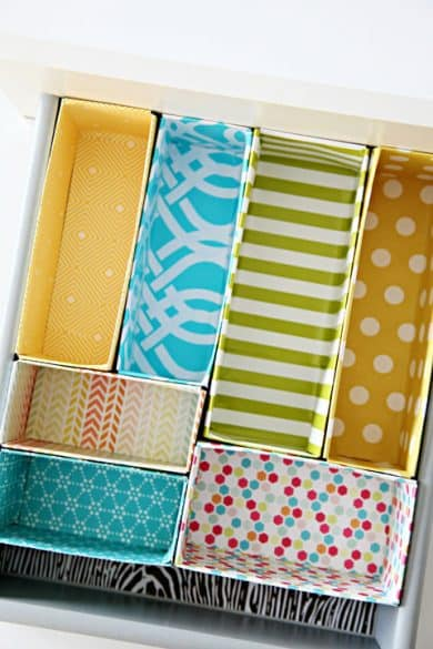 Clever ways to organize with cereal boxes the organized mom cereal box drawer dividers ccuart Gallery