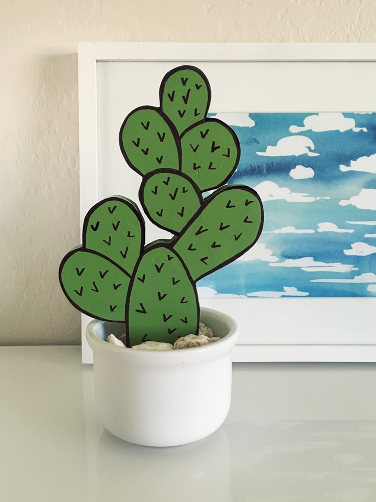 diy cactus decor thrift store trinket makeover the organized mom. Black Bedroom Furniture Sets. Home Design Ideas