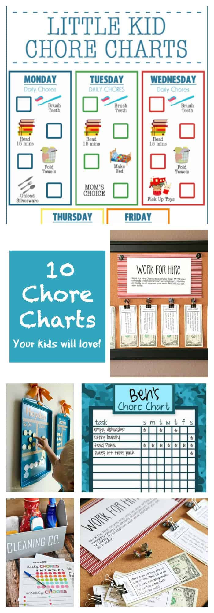 photo regarding Free Printable Chore Cards identified as 10 Printable Chore Charts Your Small children Will Really like! - The