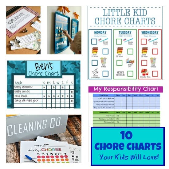 photo relating to Printable Chore Charts for Multiple Children referred to as 10 Printable Chore Charts Your Youngsters Will Really like! - The