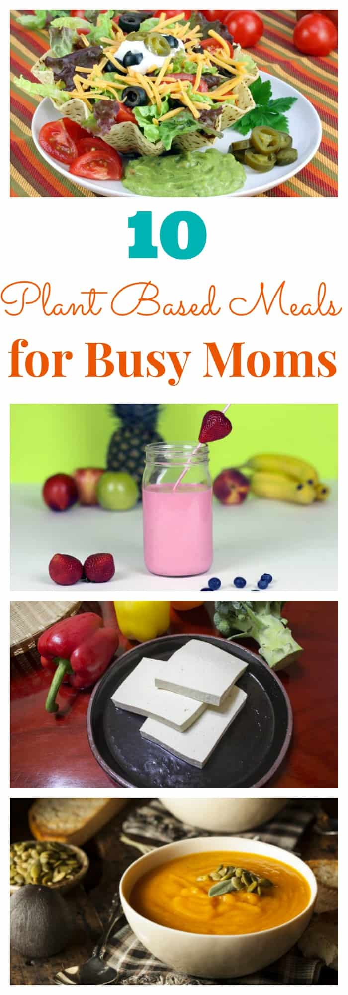10 Plant Based Meals for Busy Moms