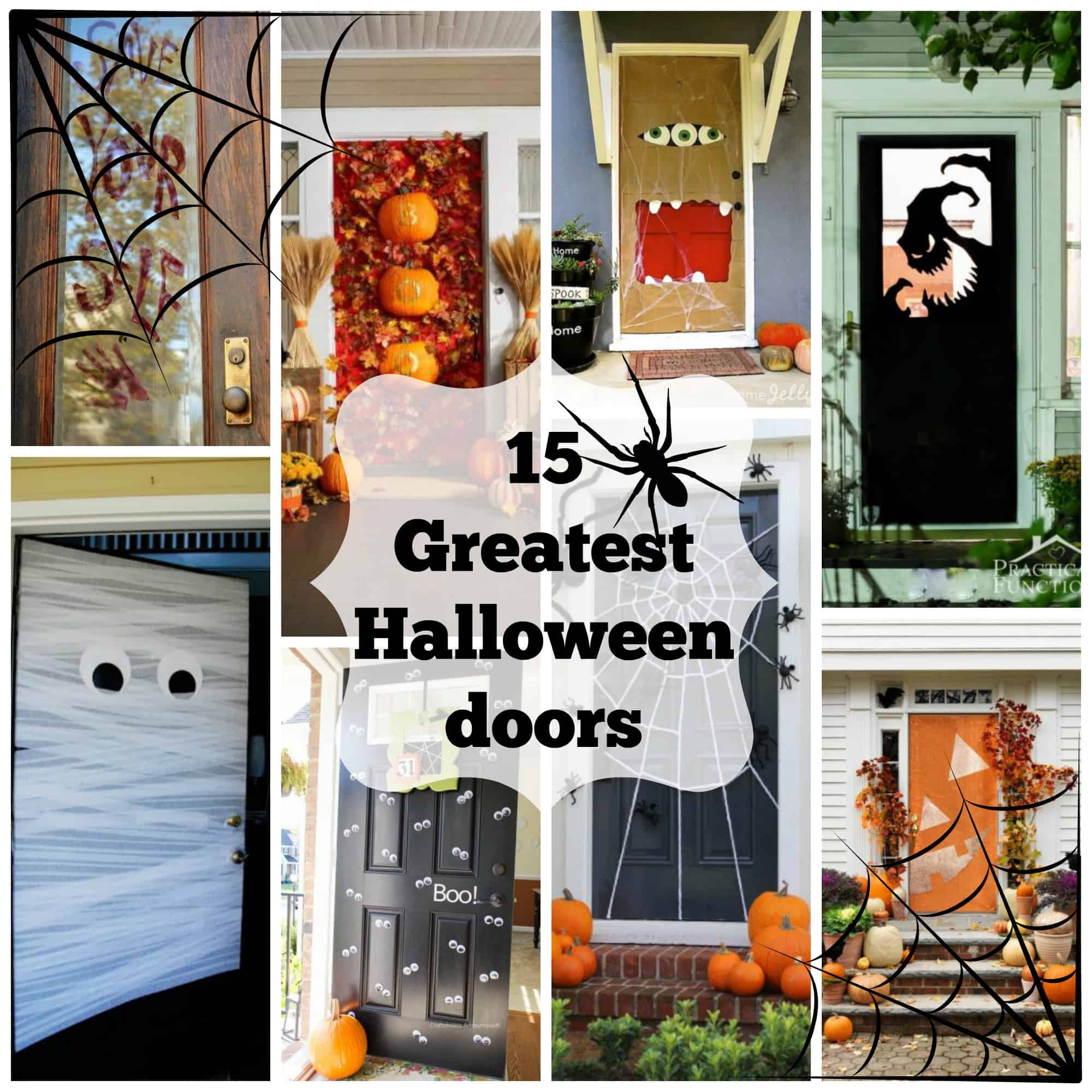 diy door window spooktacular monster halloween diys cor decorations d decor
