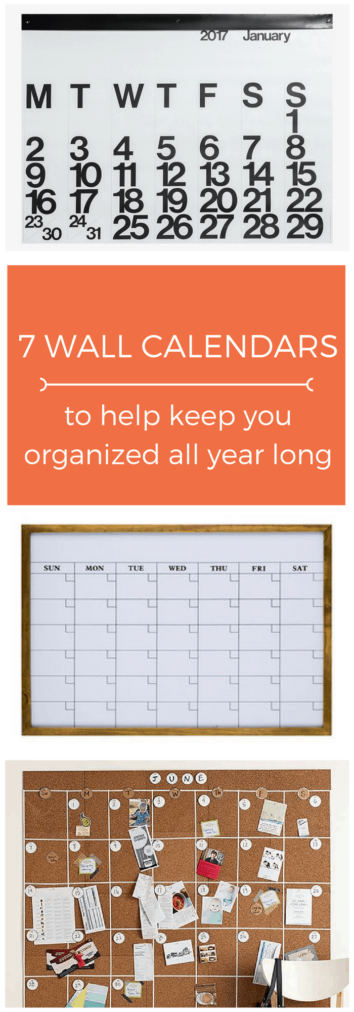 Year Long Calendar : Wall calendars to help keep you organized all year long