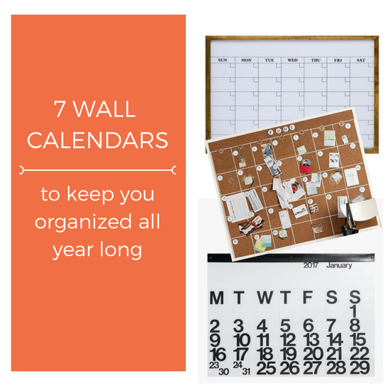 7 Wall Calendars To Help Keep You Organized All Year Long The