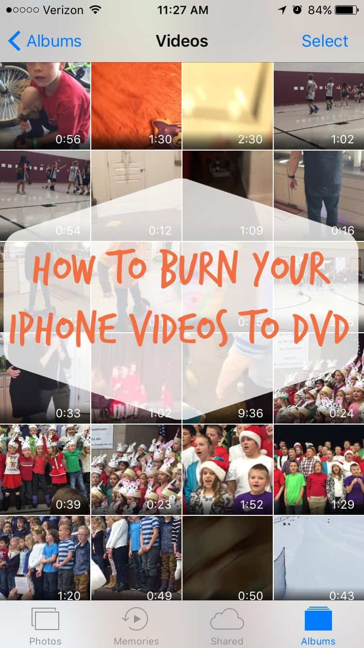 How to burn your iphone videos to dvd