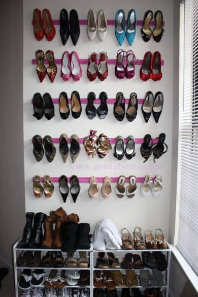 A Crown Molding Shoe Rack Is A Simple DIY Project And A Stylish Way To  Organize Your Shoes. I Love When I Can Store Things On Walls To Save  Precious Floor ...