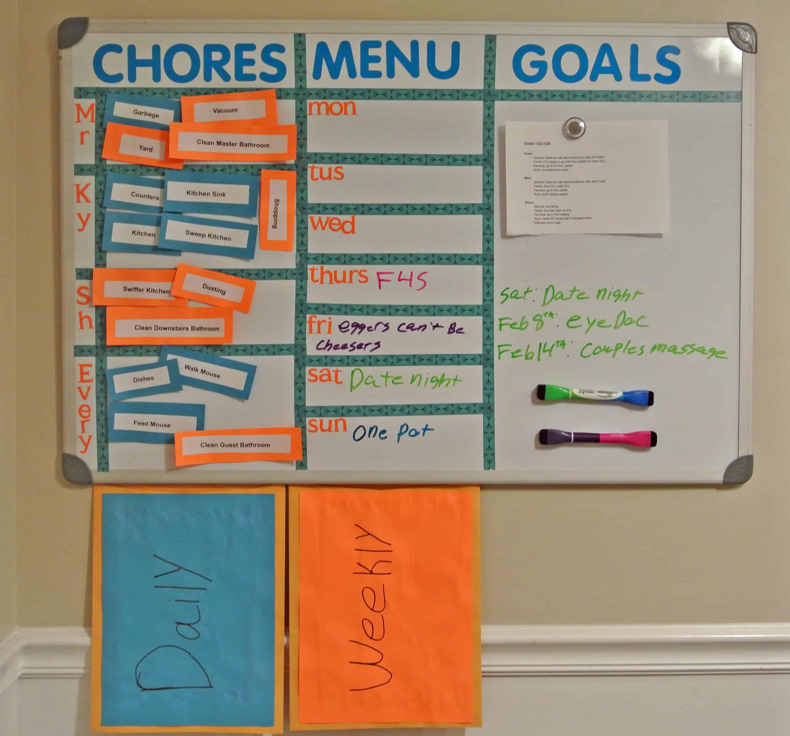 Kayte Vs. The Chore Chart