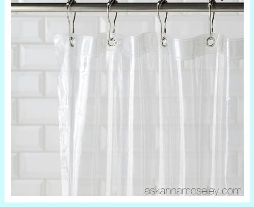 how to take stains out of tyrelene shower curtains