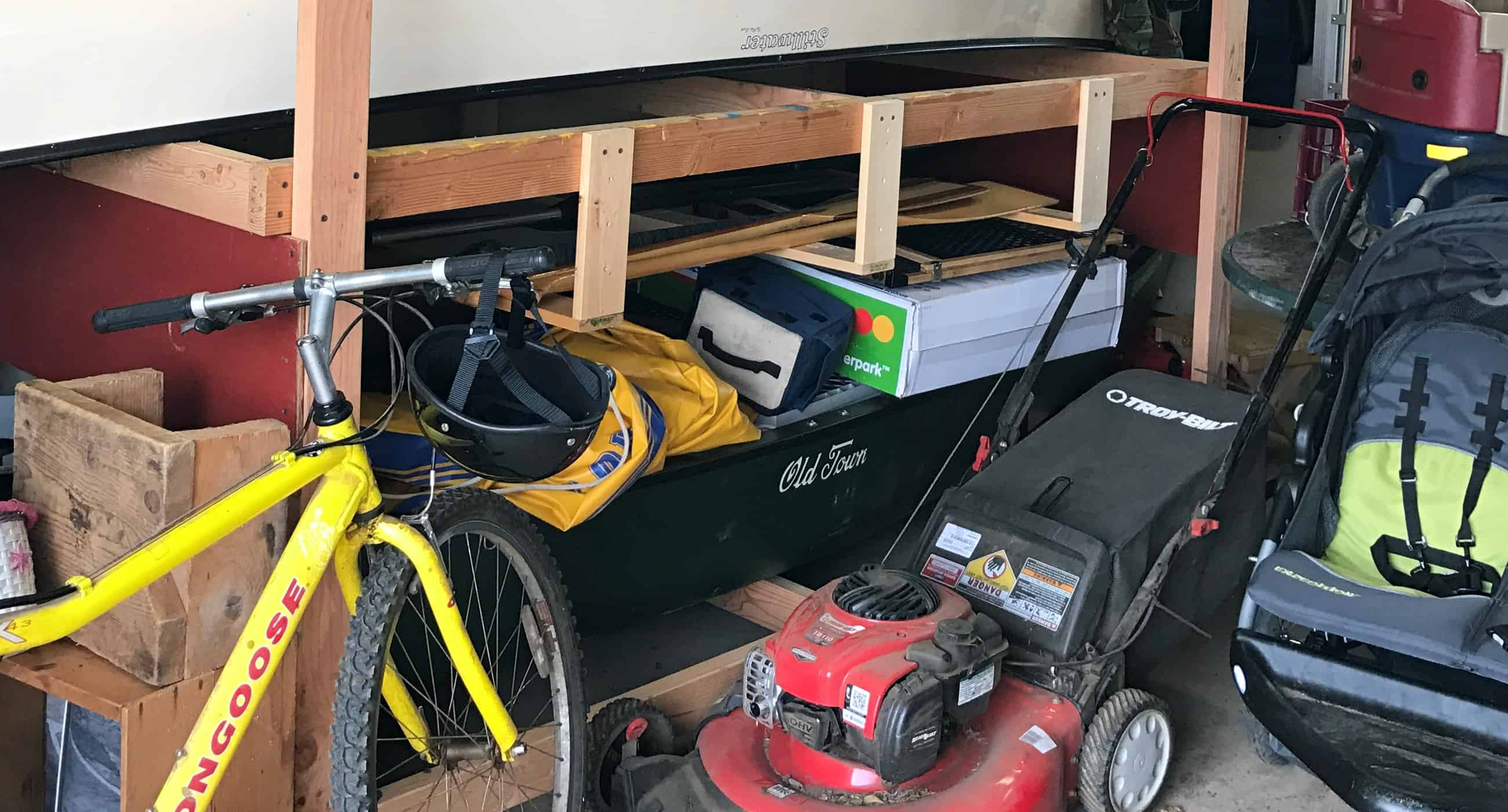 The Best Dual Purpose Storage In My Garage Is Tote On Top Of Our Off Season Tires Its Perfect Size And Height For A Workbench