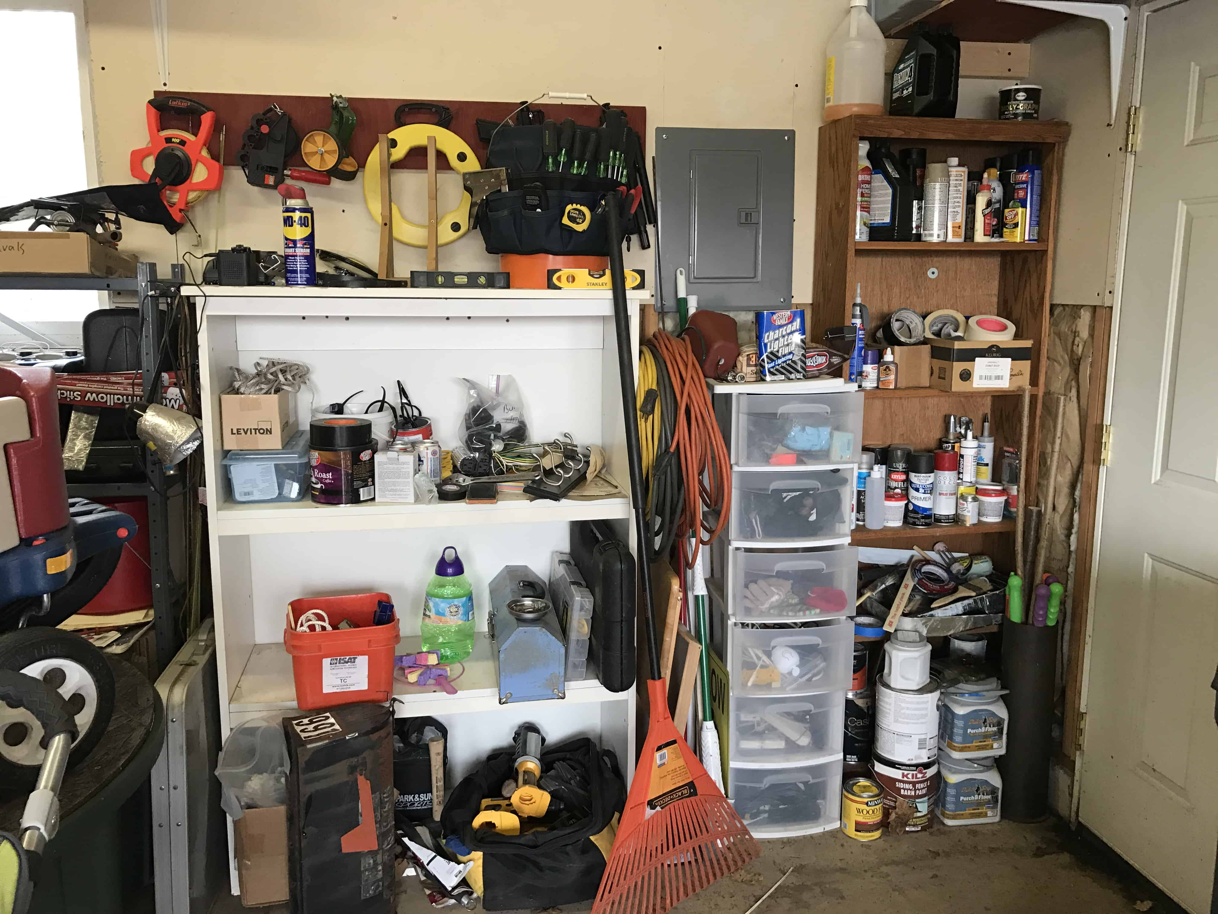 Old kitchen cabinets garage - I Also Have Seen Old Kitchen Cabinets Repurposed As Garage Storage If Having Matching Shelves And Cabinets Isn T Worth The Expense Of Purchasing New