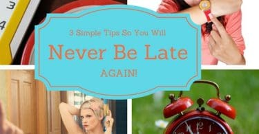 never be late again