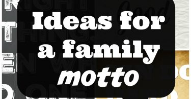 ideas for a family motto