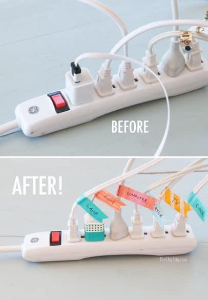 power cord organization