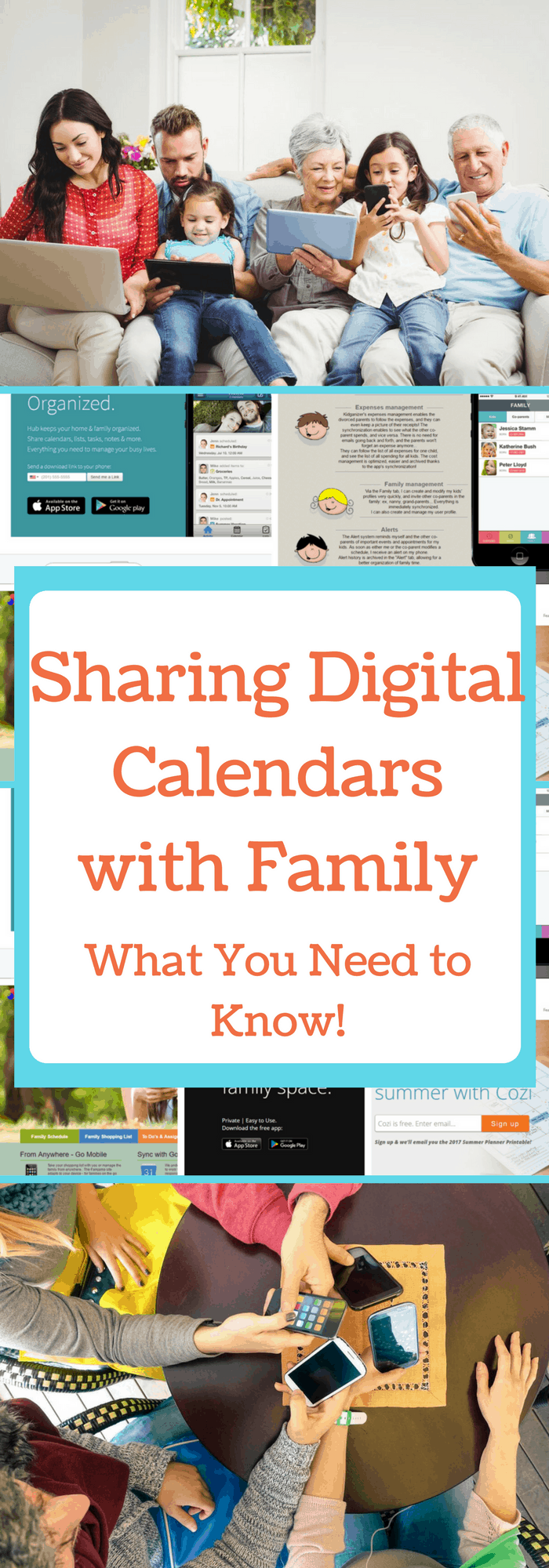 Family Calendar Sharing : Sharing digital calendars with the family what you need