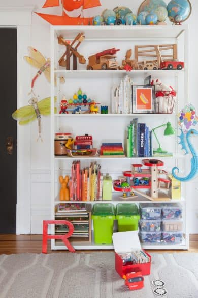 DIY, toy storage, book shelf, affordable
