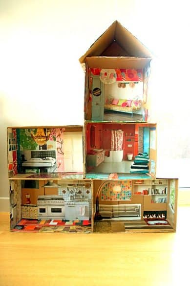 doll house made out of magazines