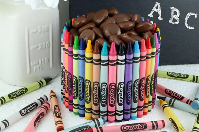 crayons and chocolate