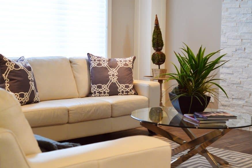 minimal living room decor