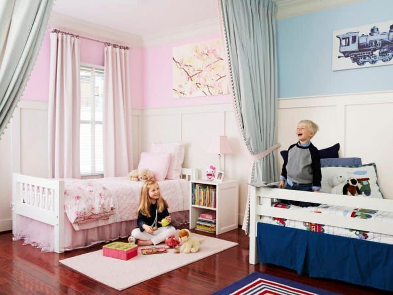 different gender shared bedroom