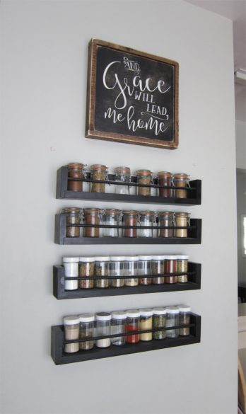 spice rack wall display