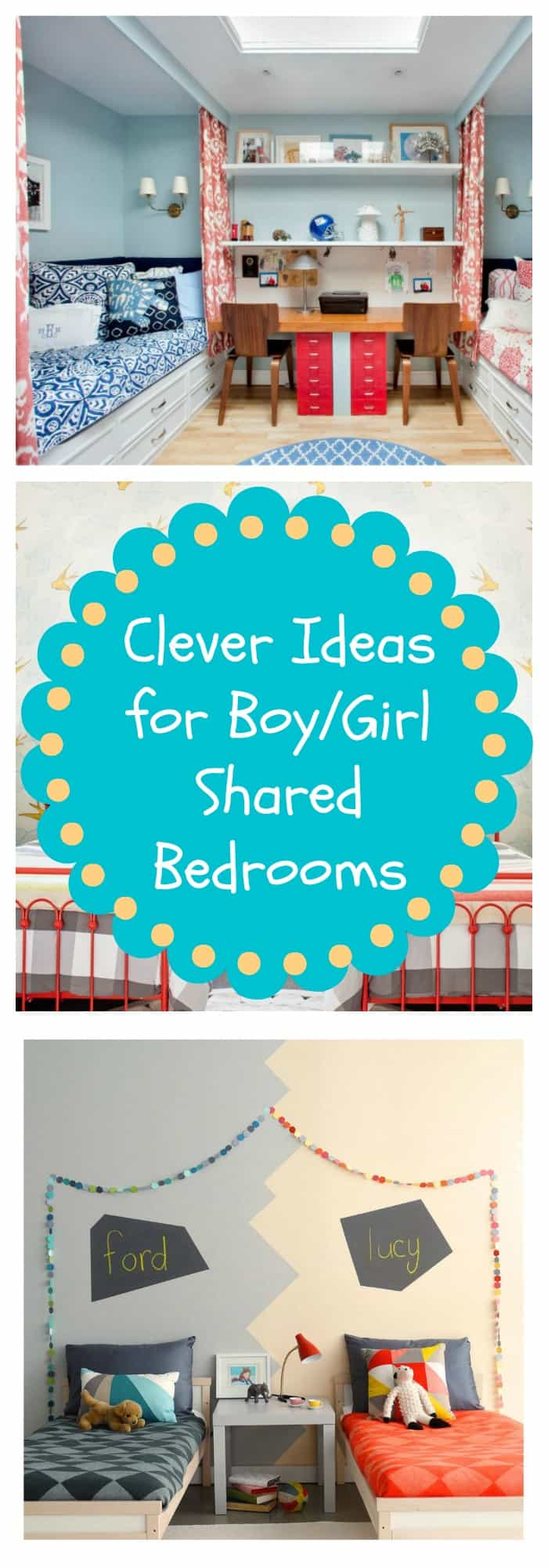 ideas for boy/girl shared bedrooms