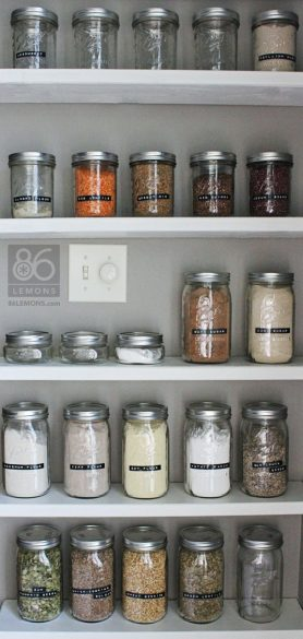 pantry storage in jars