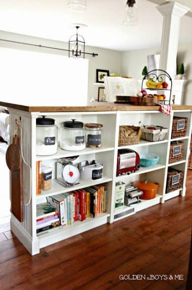 bookcase kitchen island