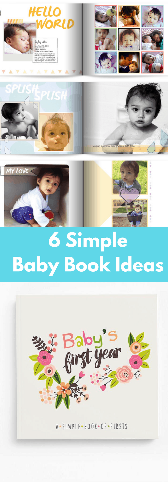 simple baby book ideas