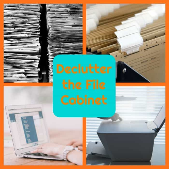 declutter the file cabinet