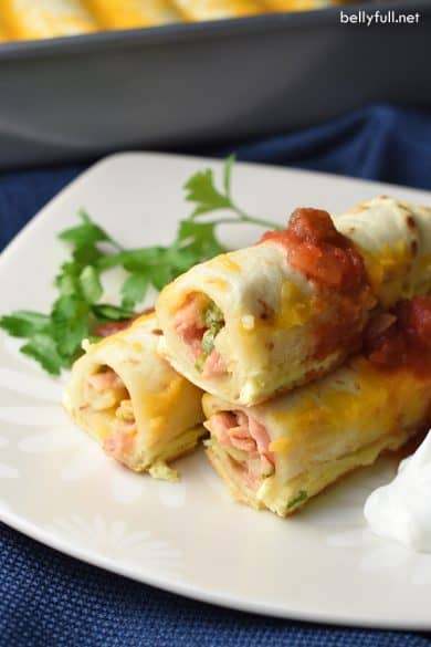 make ahead breakfast enchiladas