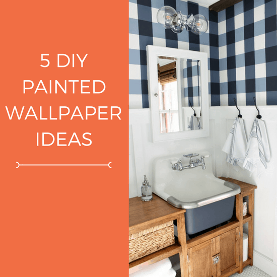 DIY painted wallpaper